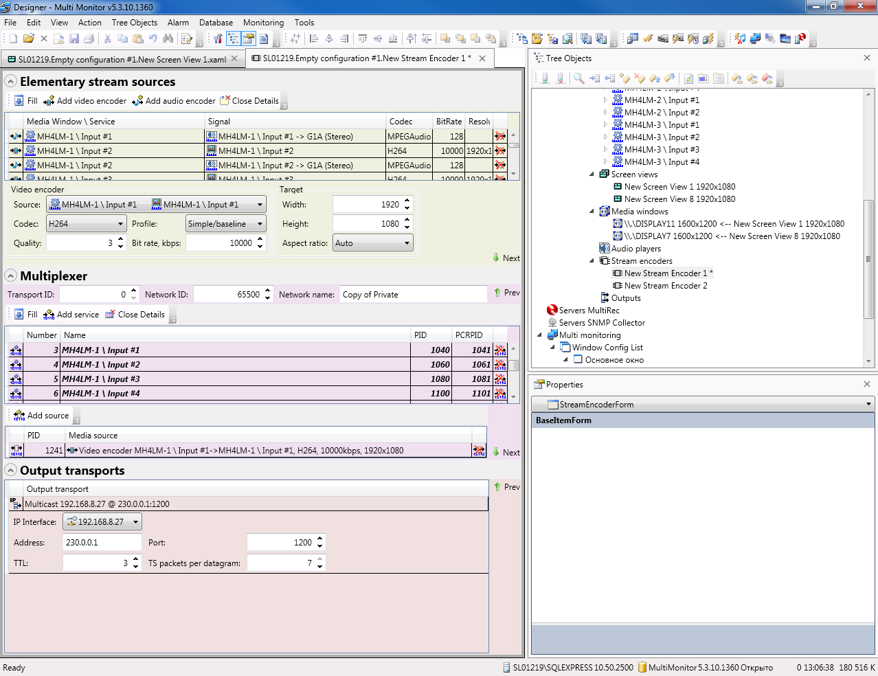Encoder Sources to IP TS - Monitoring Solutions and Multiviewers